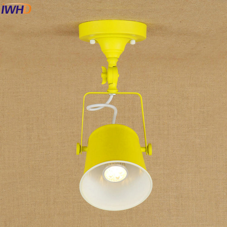 IWHD Industrial Vintage Loft Ceiling Lights Retro Colorful LED Ceiling Lamp Fixtures Home Lighting Luminaire Lamparas De Techo iwhd loft industrial vintage ceiling lights black retro iron led ceiling lamps for kitchen lamparas de techo home lighting