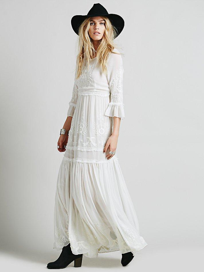 2018 spring summer women vintage ethnic embroidery hippie
