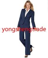 Лидер продаж темно Для женщин Бизнес костюм Индивидуальный заказ офисные смокинги Повседневная обувь