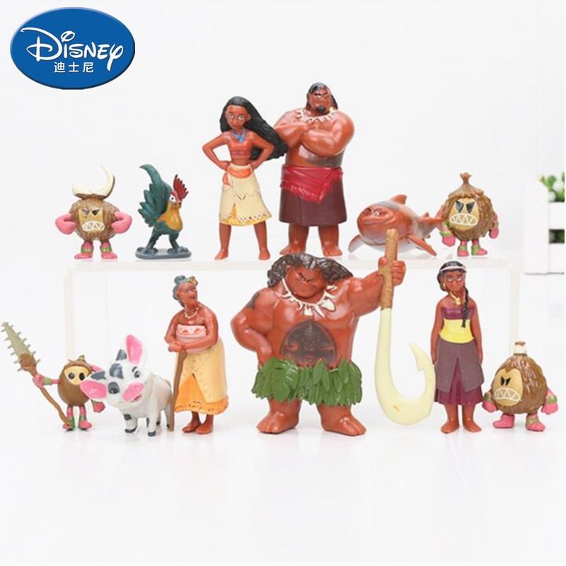 Toys & Hobbies Fairy Tale Princess Vaiana Moana Maui Keychain Collectible Action Figure Doll Toys