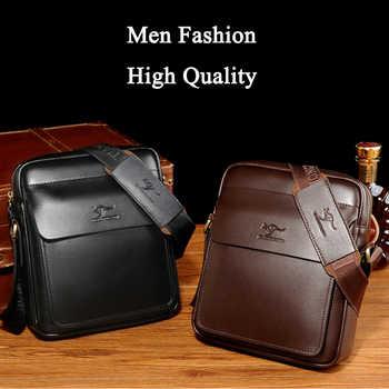 Famous Brand Men Bag Casual Crossbody Pu Leather Bags Men Shoulder Messenger Bag High Quality Male Bags WBS530