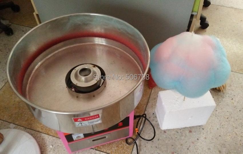free shipping with CE Commercial Use Cotton Candy Maker  Candy Floss machine free shipping commercial 110v 220v electric 25 cotton candy floss maker machine 100pcs 14 bamboo skewers