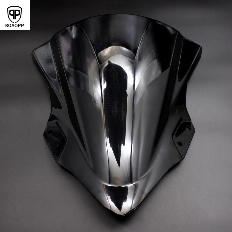 ROAOPP Motorcycle ABS Black Windshield Windscreen Wind Deflector For KAWASAKI NINJA 400 NINJA 250 NINJA400 NINJA250 2018