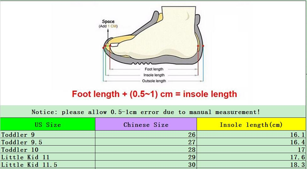 size 9 in children's shoes