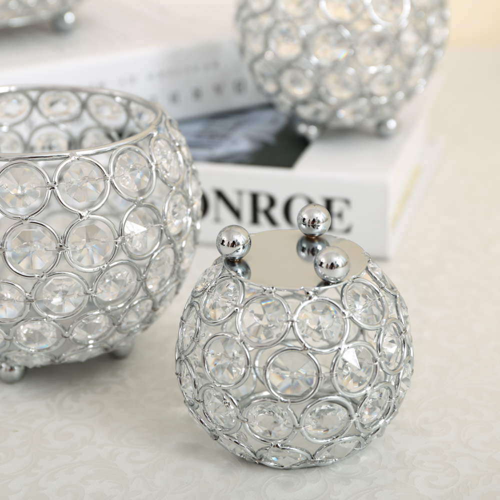 Crystal Table Lamp Tealight Votive Candle Holder Wedding Party ...