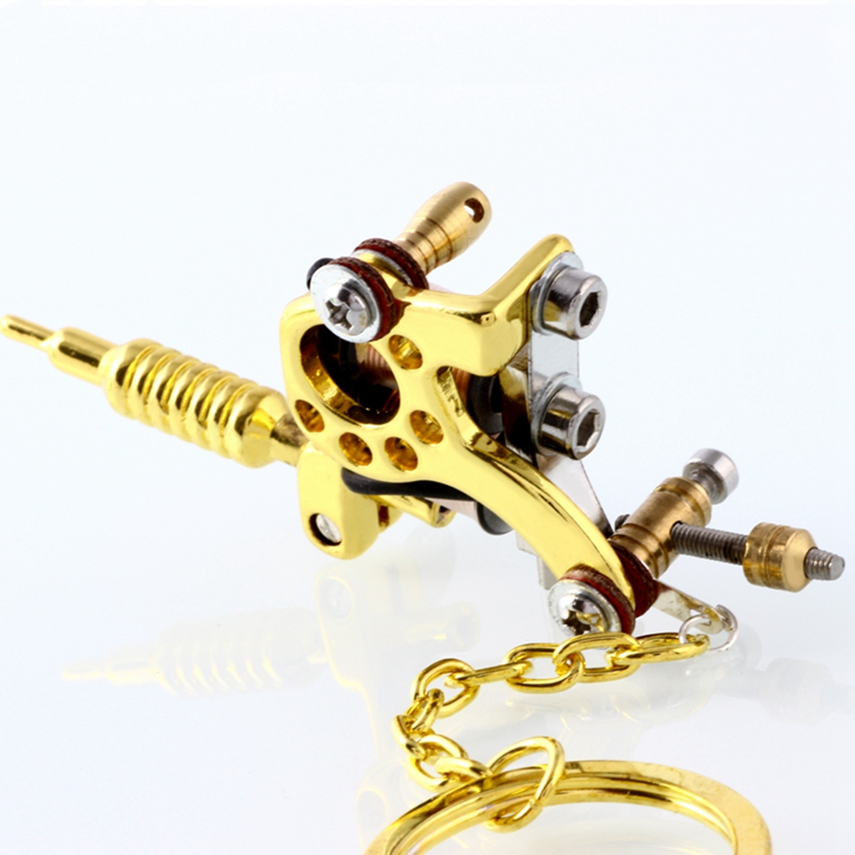 Black mini tattoo machine pendant fashion jewelry pendant cool 1 piece mini tattoo machine gun pendant mixed styles pendant necklace for tattoo artists key chain mozeypictures Gallery
