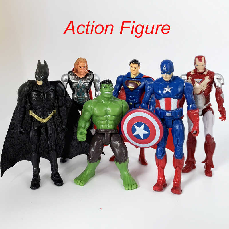 Di un pezzo Giocattoli Marvel The Avenger Endgame Super hero Thor Captain SpiderMan Batman Hulk Iron Man Action Figure Bambole Giocattolo