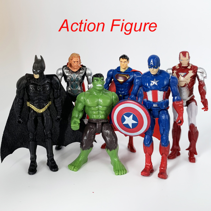 one piece Marvel Toys The Avenger Endgame Super Hero Thor Captain SpiderMan Batman Hulk Iron Man Action Figure Toy Dolls image