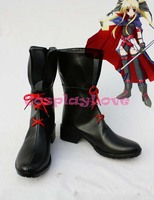 Magical Girl Lyrical Nanoha Fate Imitated Cosplay Shoes Boots Hand Made Custom Made For Halloween Christmas