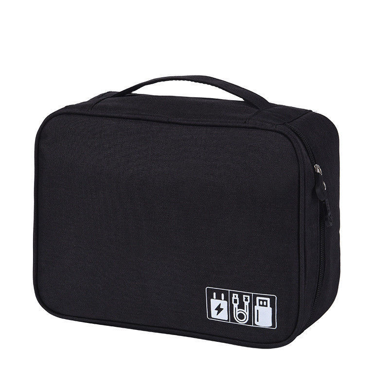 Travel  Storage Bags Nylon Electronics Accessories Organizer Travel Storage Hand Bag Cable USB Drive Case Bag 5