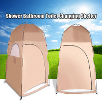 Portable Waterproof 1 Person Tent Collapsible Shower Bathroom Toilet Changing Room Shelter for Hiking Camping Outdoor Activity