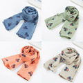 2016 new style Mickey children's scarf Autumn and winter seasons high quality design fashion cotton linen Mickey baby scarf