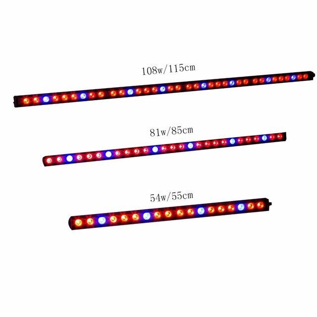 54 w/81 w/108 w Led élèvent la lumière de bande bar 18/27/36 pcs led puces Bleu Rouge UV IR pour la croissance des plantes d'intérieur éclairage hydroponique croître tente