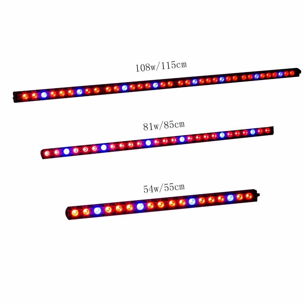 54w/81w/108w Led grow strip light bar 18/27/36pcs led chips Blue Red UV IR for indoor plant growth lighting hydroponic grow tent 4pcs lot 72leds 216w full spectrum led grow light ac85 265v ufo led plant lamp red blue uv ir indoor grow tent lighting