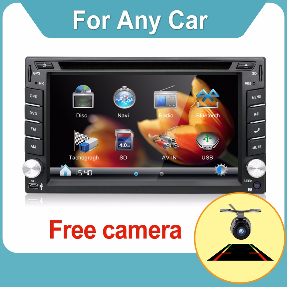 100% New universal Car Radio Double 2 din car dvd player GPS Navigation In dash Car PC Stereo Head Unit video+Free Map+Free Cad! joying wiring harness cable 40 pin 5m extension cable for bmw dash dvd gps car radio stereo head unit