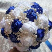 Royal Blue White Calla Lily Wedding Flowers Bridal Bouquet Choose Your Color