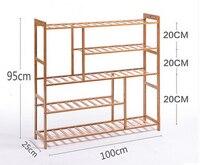 shoe rack simple bamboo storage rack shoe rack multilayer simple household assembled shoe rack