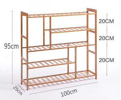 Schoenenrek 100 Cm.Schoenenrek Eenvoudige Bamboe Opbergrek Schoenenrek Multilayer