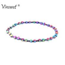 Trendy Health Care Energy Weight Loss Bracelets for Women Men Fashion Heart Shaped Hematite Beaded Bracelet Jewelry