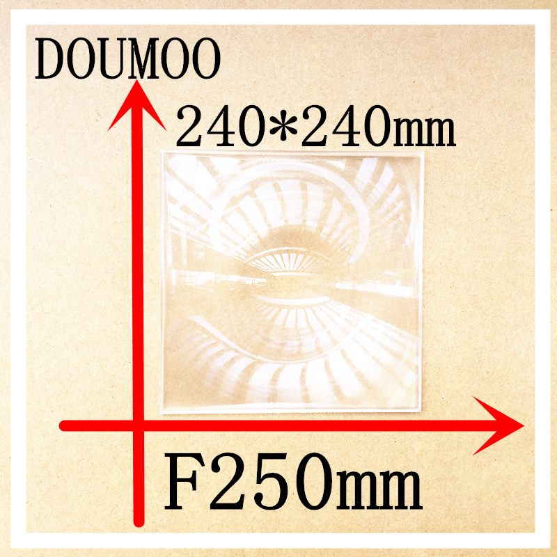 все цены на Support Dropshipping 1 PCS optical lens Fresnel Lens square 240*240 MM Condenser lens Focal length 250 mm square fresnel lens онлайн