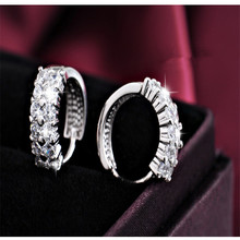 925 sterling silver Stud earrings Set auger flowers Womens fashion jewelry wholesale