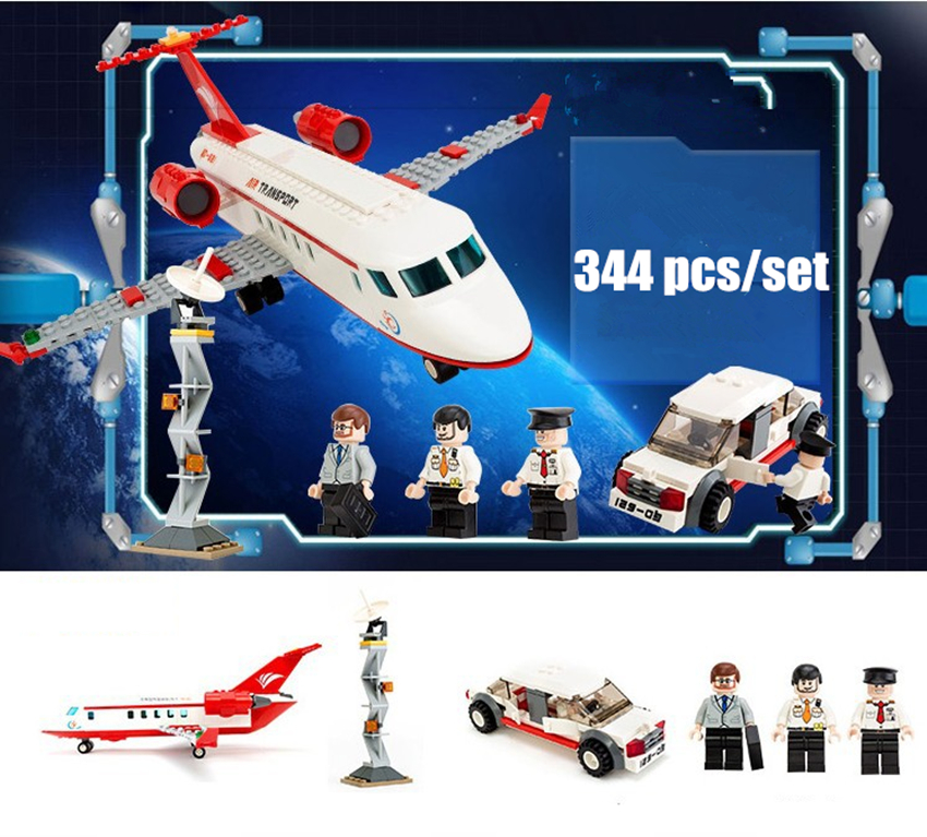 New Plane Air Bus Toy Model Airplane fit legoings city plane figures aircraft airport Building Blocks Bricks DIY Toys gift kid