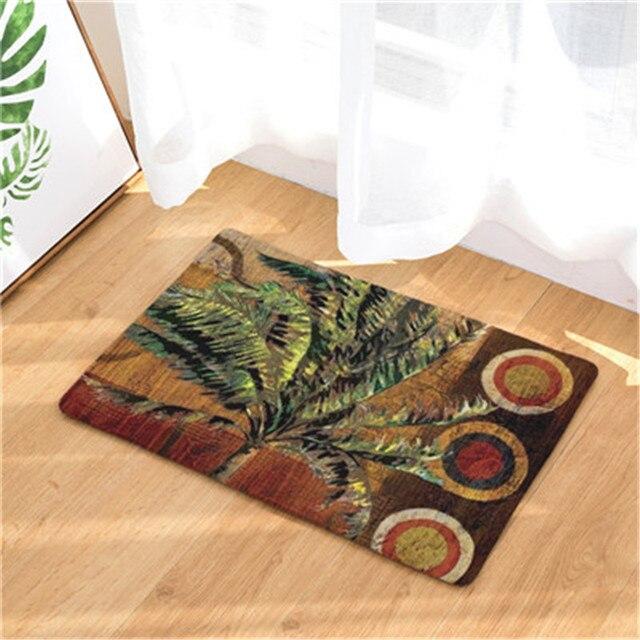 practical fashion beach scenery theme print mats rectangular floor mats living room non slip mats - Floor Mats For Living Room