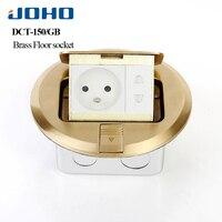 JOHO Ground Socket Insertion Google Home Round Type Floor Outlet With RJ45 Socket 16A Socket Slow Pop Upelectrical Outlets