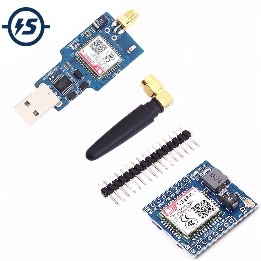 <font><b>USB</b></font> To GSM GPRS SIM800C Wireless Bluetooth Computer Control Calling With <font><b>Antenna</b></font> Wireless Module <font><b>5V</b></font>/3.3V TTL Development Board image