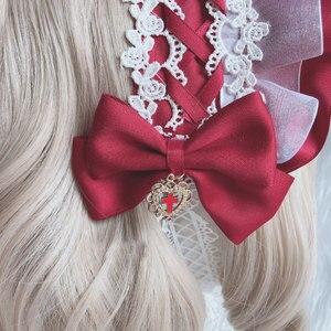 Image 4 - Zoete Handgemaakte Lolita Motorkap Hoofdtooi Lace Hoofddeksel