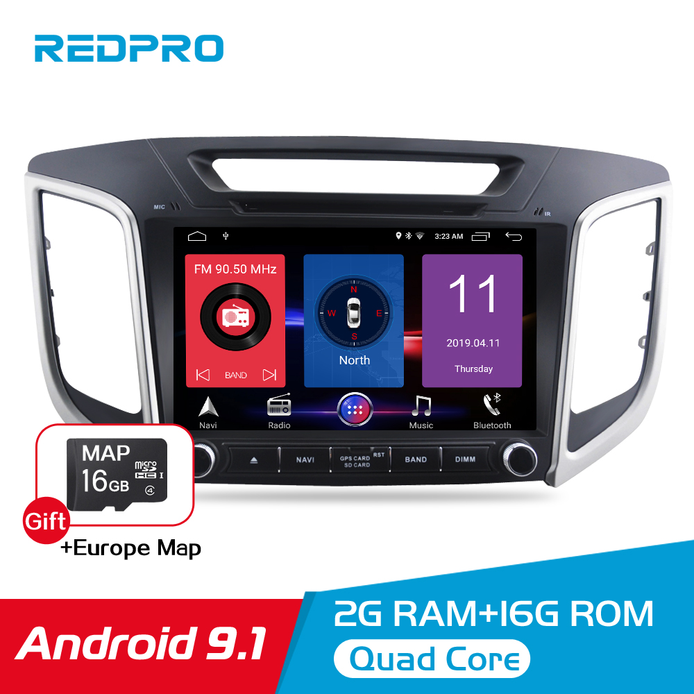 """Android 9.1 Car Stereo For Hyundai ix25 Creta 2014 2018 Car DVD Player 9"""" IPS Screen 2 Din Video GPS Navigation Radio Multimedia-in Car Multimedia Player from Automobiles & Motorcycles"""