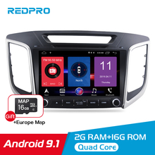 цены Android 9.1 Car Stereo For Hyundai ix25 Creta 2014-2018 Car DVD Player 9