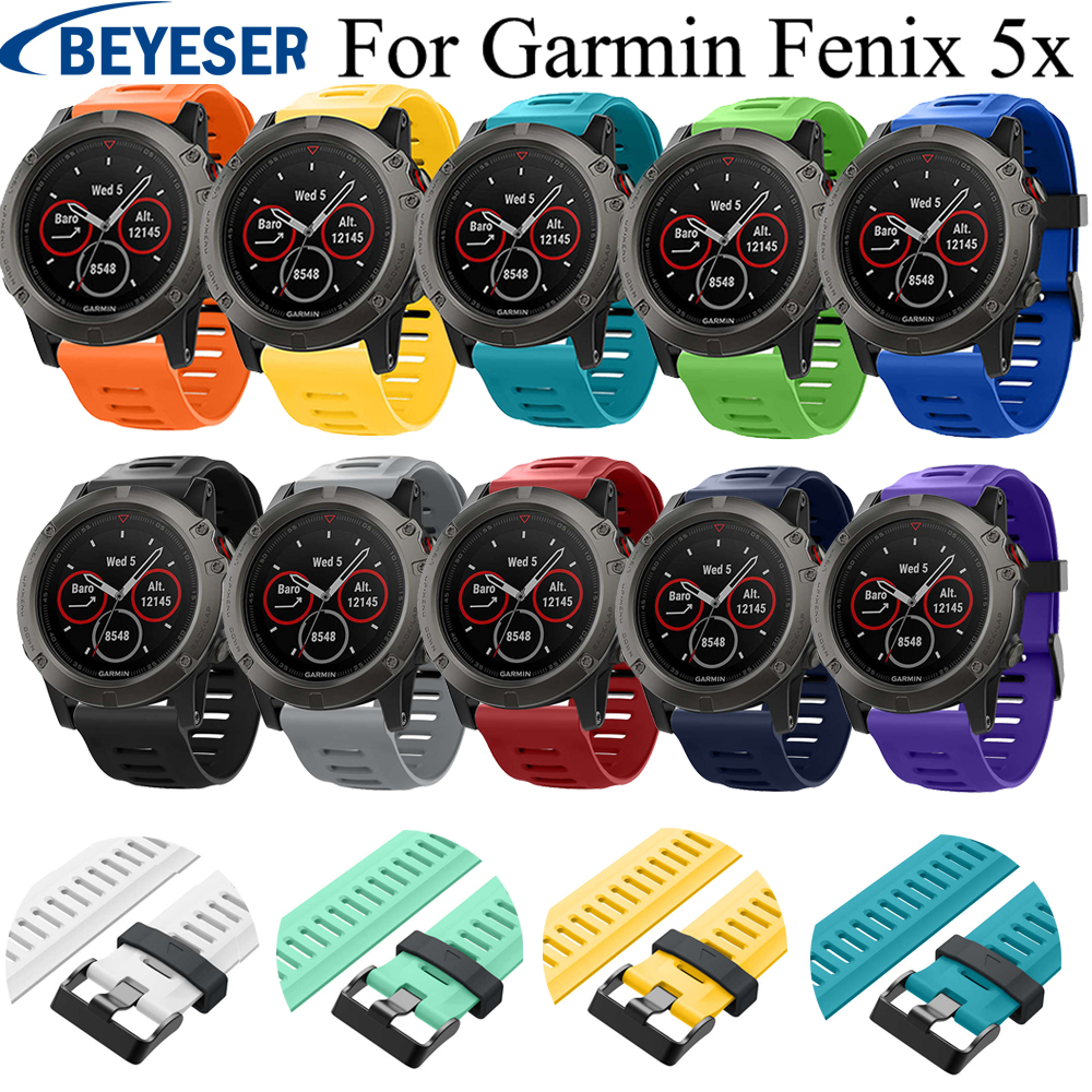 12 colors Silicone Watch Strap watchband For Garmin Fenix 5X Fenix5X Plus Band wristband for Garmin Fenix 3 Fenix3HR Watch band12 colors Silicone Watch Strap watchband For Garmin Fenix 5X Fenix5X Plus Band wristband for Garmin Fenix 3 Fenix3HR Watch band