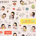 6 Pçs/set Não Reapt Etiqueta Bonito Dos Desenhos Animados Brinquedos Linda Menina Adesivos Transparentes Crianças Brinquedos de Presente Decorativo Diário Notebook Laptop