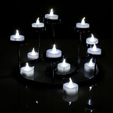 30pcs/lot White LED Candle Romantic Flameless Tea Candles Light For Wedding Party Holiday Decoration free shipping