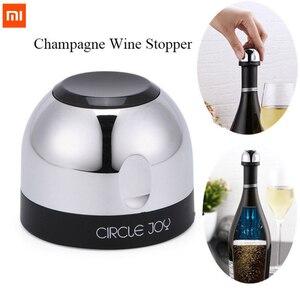 Image 1 - Original Xiaomi Mjia Circle Joy Sparkling Wine Mini Champagne Stopper CJ JS02 1 / box For Xiaomi Smart Home Kits gift