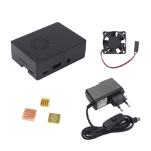 Discount! Newest Raspberry Pi 3 Kit ABS Case Box + Cooling Fan + 5V 2.5A Power Adapter + Heat Sink suitable for Raspberry Pi 3 Model B Kit