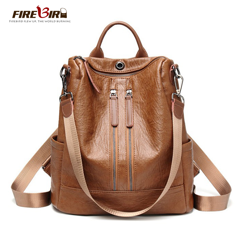 free shipping women anti theft backpack Female Travel waterproof PU leather backpack bagpack girl purses school backpacks rugzak thumbnail