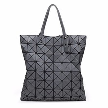 Taohongshi Top Design Women Fashion Matt Surface BaoBao Bag Geometry Package Folding Casual Tote Japan Bao Bao