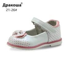 Apakowa/сандалии для девочек; летняя детская нескользящая обувь с подкладкой из натуральной кожи для девочек; повседневная обувь на плоской подошве для малышей; новое поступление