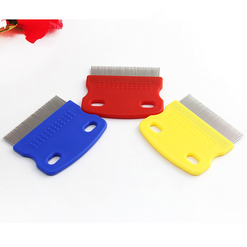 High Quality Dog Cat Comb Professional Steel Grooming Comb Cleaning Hair Trimmer Brush Pet Dog Cat Accessories Pet Supplies