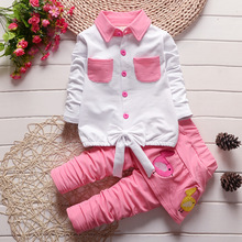baby clothing set 2016 new spring andautumn girl clothes lovely children suit small birds culottes coat skirtpants two piece set