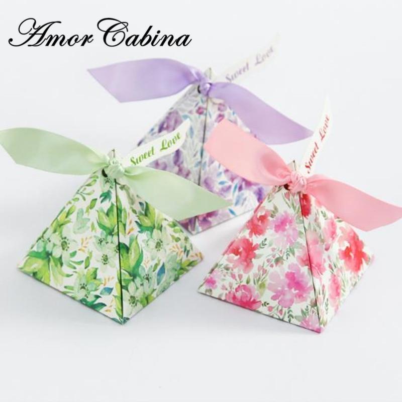 100 ชิ้นยุโรป creative candy กล่องโมเสคพีระมิดกล่องลูกอมงานแต่งงานโรแมนติกเช่น Bomboniera วันเกิดของขวัญกล่อง-ใน ถุงของขวัญและอุปกรณ์ห่อ จาก บ้านและสวน บน AliExpress - 11.11_สิบเอ็ด สิบเอ็ดวันคนโสด 1