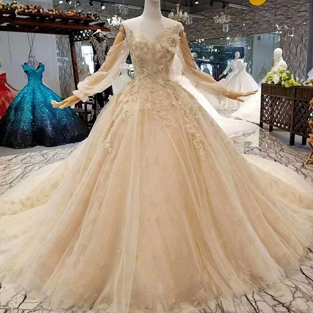 c328875fb57 High-end Luxury New Wedding Dresses 2018 Wedding Gowns Hijab Wedding Lace  Philippines With Sleeves