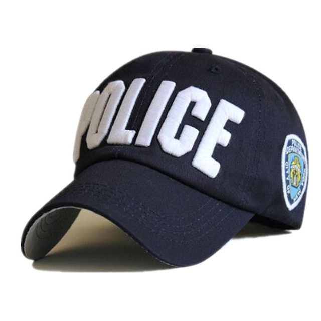 4fc80fa48d0 2016 New Styles Top Cap Baseball Adjustable Sunless Caps Snapback Police Black  Hat Men Women Embroidery Logo Hat