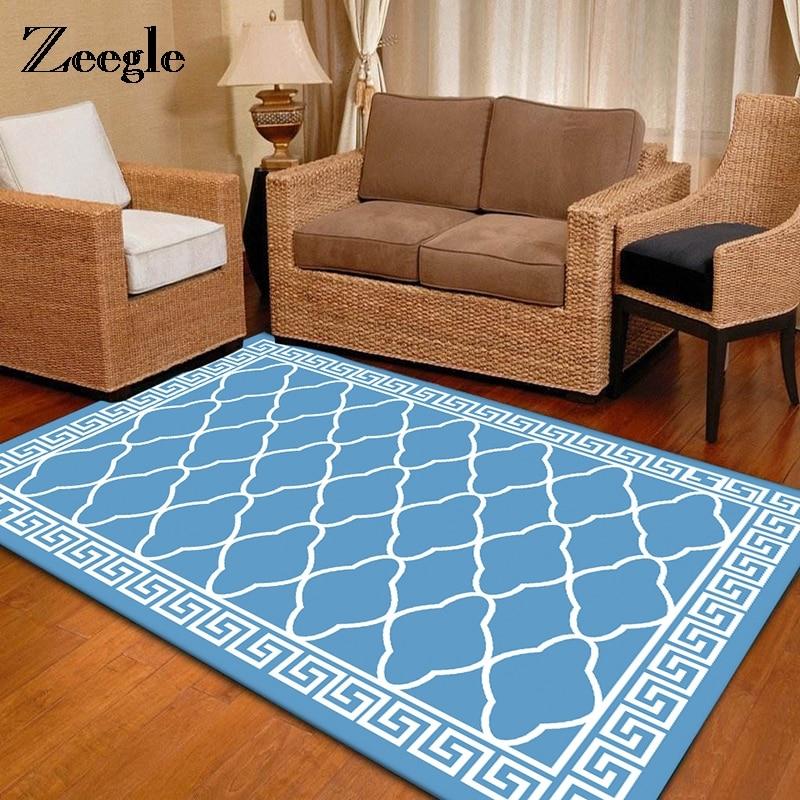 Zeegle Nordic Striped Pattern Carpet For Living Room Kids Bedroom Rug Anti-slip Home Parlor Ding Room Floor Mats Decoration