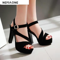 Women High heels Sandals New Arrivals Fashion Thick High Heels Sandal For Women Sexy Open Toe Summer Dress Shoes For Female