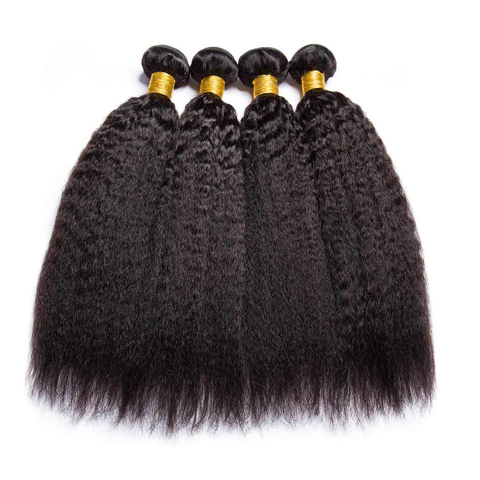 Alibele странный прямые волосы Связки 1 4 шт. много бразильских волос ткать пучки Волосы remy уток ЯКИ Пряди человеческих волос для наращивания 8-30 дюймов