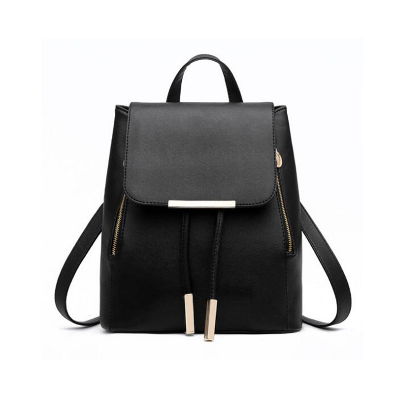 Fashion Women Backpack High Quality PU Leather Mochila Escolar School Bags For Teenagers Girls Top-handle Backpacks  Travel Bags fashion women backpack high quality pu leather mochila escolar school bags for teenagers girls top handle backpacks