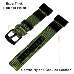 Image 3 - 26mm Genuine Nylon + Leather Watchband for Garmin Fenix 5X / 3 / 3HR Quick Easy Fit Watch Band Stainless Steel Clasp Wrist Strap